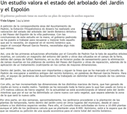 A study values the condition of the trees growing at the Garden and Espolón