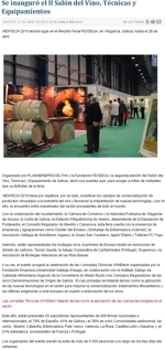 The Second Show of Wine Techniques and Equipment has been inaugurated