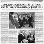The International Camellia Congress will turn Pontevedra into a small UN