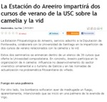 Areeiro will teach two summer courses of the Universidad de Santiago de Compostela about the camellia and the vine