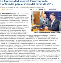 The University will incorporate the Pontevedra Nursery School at the beginning of the academic year in 2012.