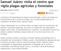 Samuel Juárez visits the centre that monitors agricultural and forestry pests