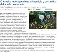 O Areeiro is researching the food and cosmetic use of the camellia oil