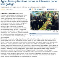 Tukish farmers and technicians are interested in the Galician kiwifruit