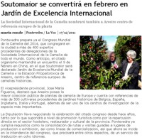 Soutomaior will be an International Camellia Garden of Excellence in February