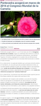 Pontevedra will hold in March, 2014 the Camellia International Congress in 2014