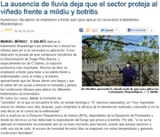 The sector is acting against the downy mildew and botrytis due to the lack of rainfall